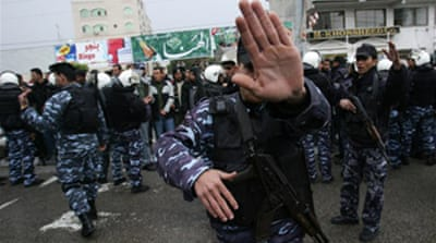 Palestinians deploy police force