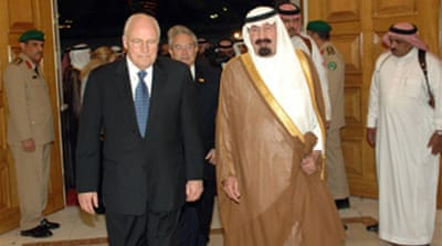 Cheney in Saudi Arabia for talks