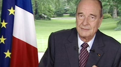 Chirac gives final speech as leader