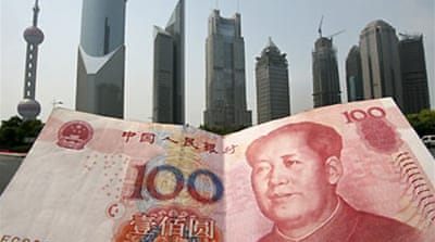 US senators press China on yuan