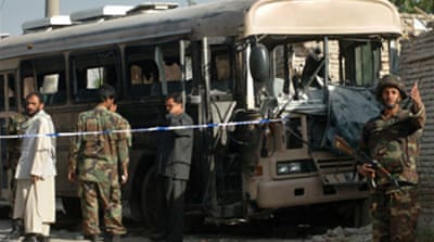 Taliban blow up Afghan army bus