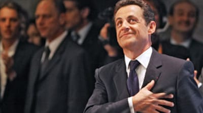 World leaders congratulate Sarkozy