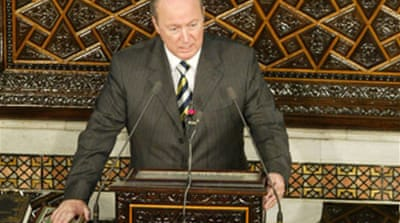Syrian parliament elects speaker