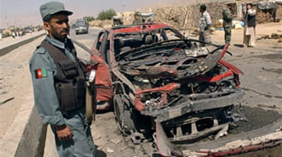 Suicide bombers hit Afghanistan