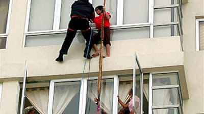 Maid rescued from Malaysian tower