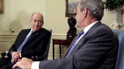 Olmert and Bush back Abbas
