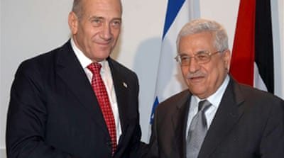 Abbas meets Olmert in Jerusalem