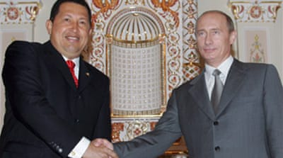 Chavez shops for arms in Russia