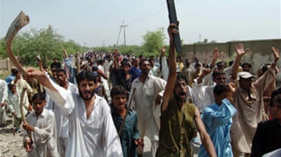 Protests in Pakistan after floods