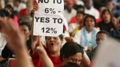 South Africans go on strike