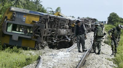 Thailand halts trains after attack