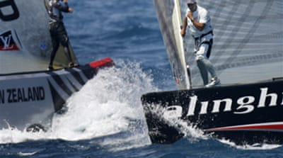 Alinghi one win away