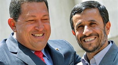 Chavez visits 'brother' Ahmadinejad