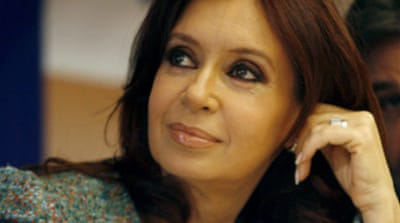 Argentina's first lady eyes top job