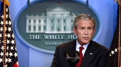 Bush defends Iraq 'surge' strategy