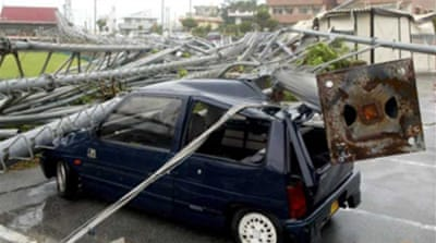 Japan typhoon weakens