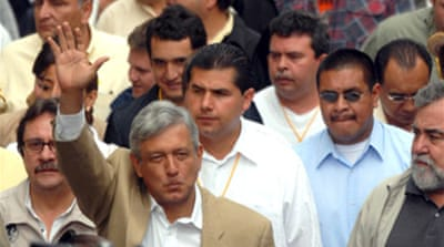 Mexico poll loser rallies followers