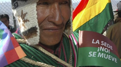 Bolivians rally over capital switch