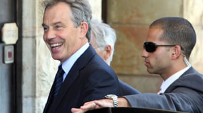 Blair begins Middle East mission
