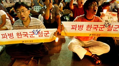 Call for calm over Korean hostages