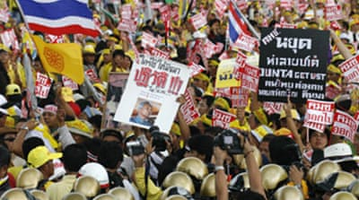 Thaksin peace call after Thai demos