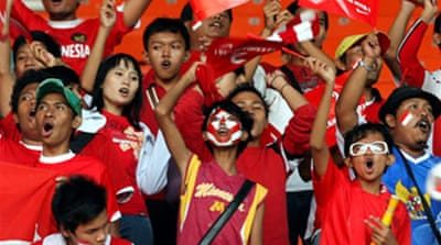 Indonesia cheer on East Asia