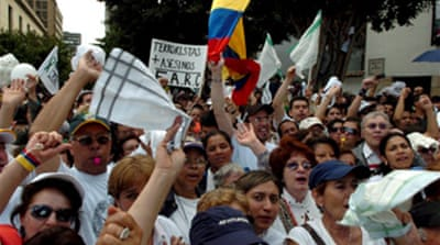 Colombians denounce kidnappings