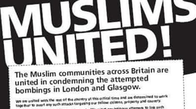 UK Muslims condemn attacks