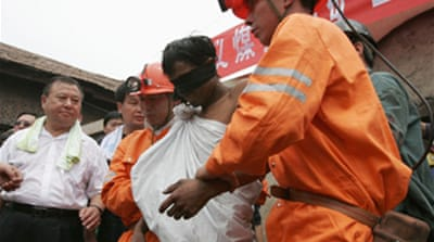 Trapped Chinese miners rescued