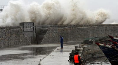 China battered by typhoon Sepat