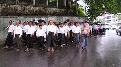 Myanmar demo over fuel price hike