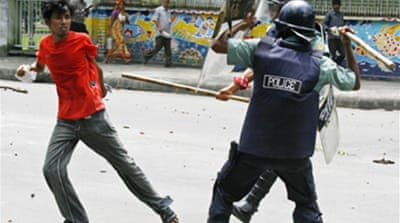 Riots erupt at Bangladesh campus