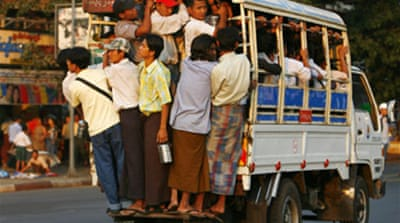 Myanmar moves against fuel protests