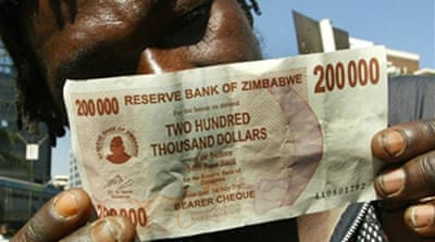 Zimbabwe inflation at record high