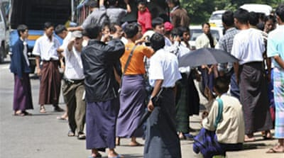 'Military build-up' in Yangon