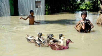 Floods displace millions in S Asia