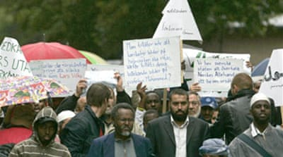 Muslims protest at Swedish cartoon