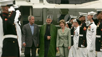 Karzai and Bush meet on Afghanistan