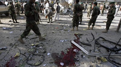 Afghan troops killed in bus bomb