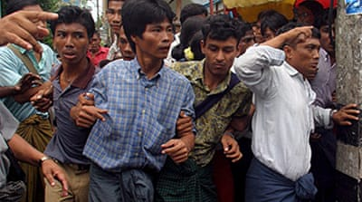 Myanmar march brought to a halt