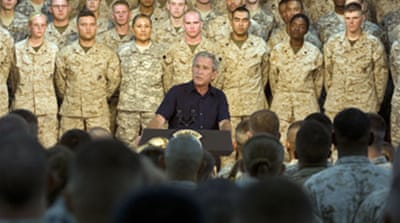 Bush: 'Success' may bring troop cut