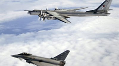 Jets intercept Russian bombers