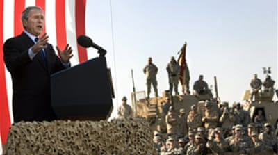 Bush upbeat on Iraq
