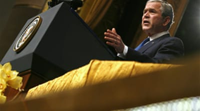 Bush: 'Confront the danger of Iran'