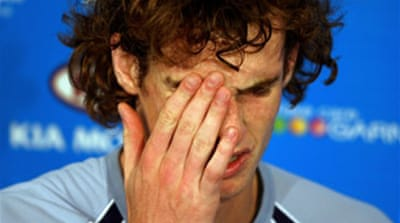 Murray crashes out of Aussie Open