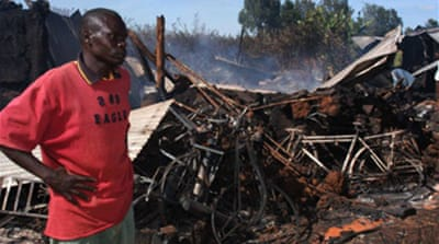 Mob torches Kenyan church