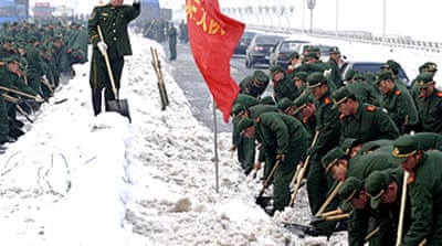 China declares 'war' on winter