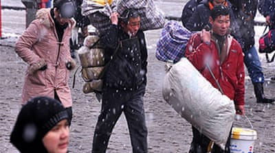 China warns of winter shortages