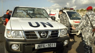 UN troops wounded in Lebanon blast