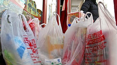 China crackdown on plastic bags